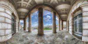Burgtor mit Blick auf den Heldenplatz Wien