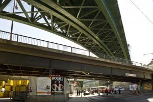 Doppelbrücke über die Heiligenstädter Straße bei der Spittelau