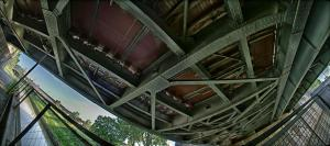 Eisenbahnbrücke an der Nussdorfer Schleuse